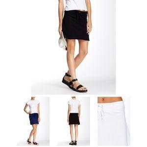 Michael Stars Black Drawstring Mini Skirt